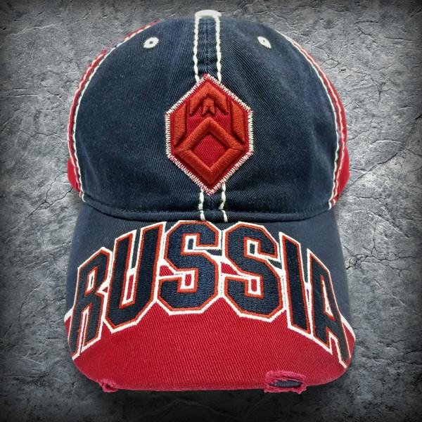 Бейсболка «Россия», Цвет Темно-синий от Земля воинов