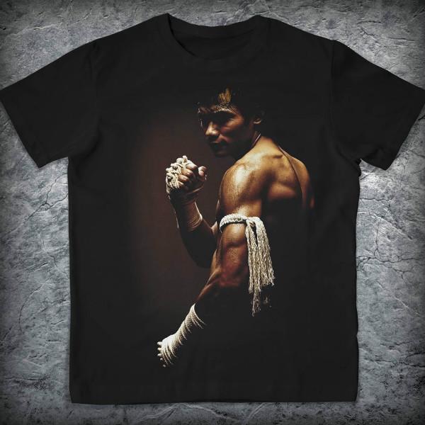 Спортивная футболка «Муай-тай», Цвет Черный, Размер S от Земля воинов