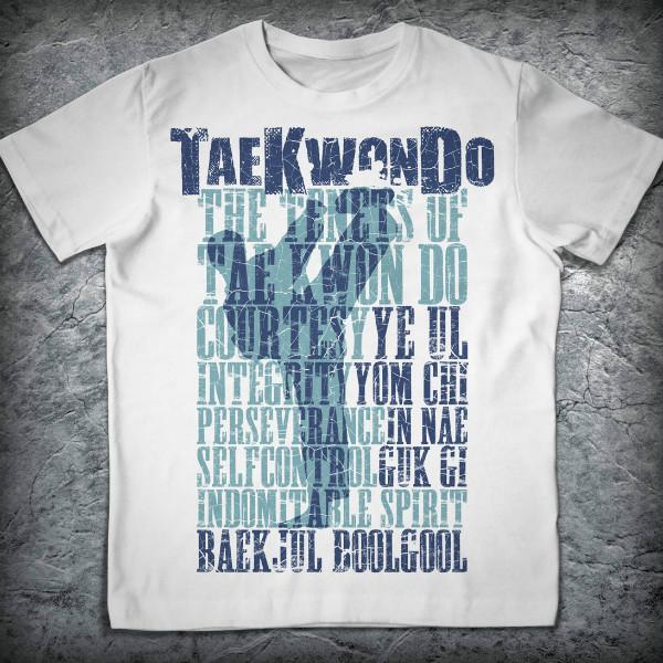 Футболка «Тхэквондо. Принципы», Цвет Черный, Размер XXL от Земля воинов