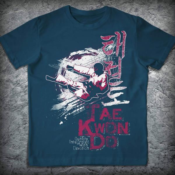 Заказать футболку с надписью taekwondo