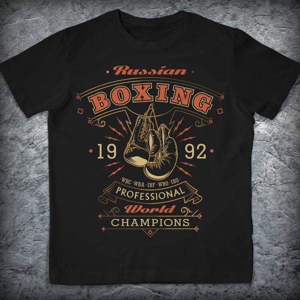 Футболка «Boxing.Champions», Цвет Черный, Размер S от Земля воинов